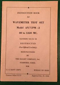 3 Vintage WWII US Army Manuals Wavemeter, Oscillator, Coupling Kit
