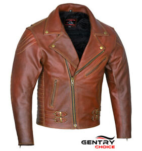Modern-Brando-Style-Leather-Jacket-Tan-Brown-Motorcycle-Riding-Touring-Armored