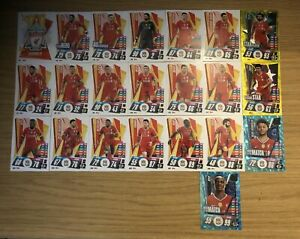 MATCH-ATTAX-2020-21-FULL-TEAM-SET-OF-ALL-22-LIVERPOOL-CARDS-INC-FOILS