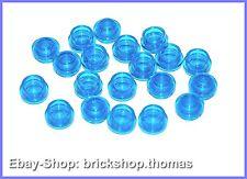 Lego 20 x Platte rund Transparent  blau (1 x 1) - 4073 - Plate, Round  - NEU/NEW