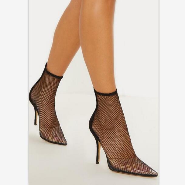 Para Mujeres Mujeres Mujeres Malla Transparente Hueco Puntera en Punta Sandalias Zapatos Altos Tacones De Aguja Ske15  edición limitada