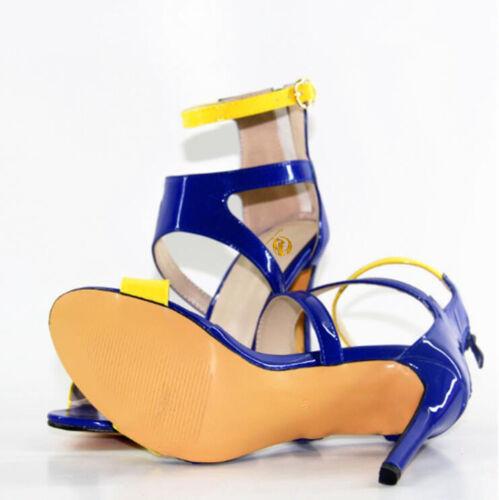 Original Intention Women Sandals Open Toe Slim High Heel Party Shoes Size 4-10.5