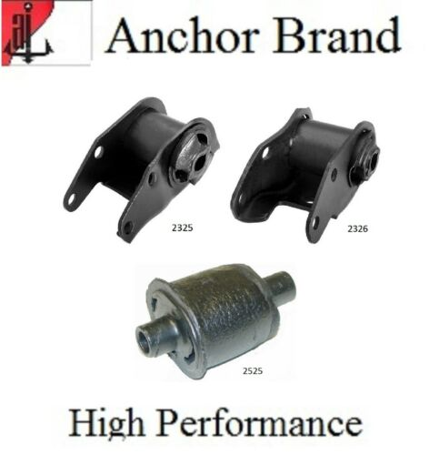 3 PCS FRONT MOTOR /& TRANS MOUNT For 1973-1976 PLYMOUTH DUSTER 5.2L