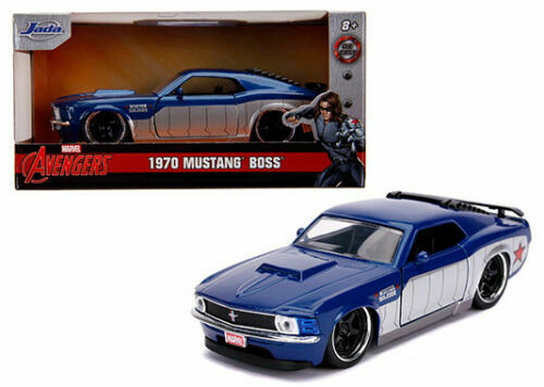 1970 Ford Mustang Boss Soldado Invernal Marvel Vingadores Rides 1//32 por Jada 31745