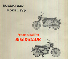 Genuine Suzuki 250 T10 Twin (1963-1967) Parts List Catalogue Manual Vinyl Binder