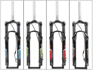 HORQUILLA de Suspensión para Bicicleta de montaña 26  27.5  29  Tenedor de bloqueo de línea de Aceite 100mm de viaje