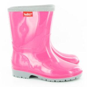 Kids-Boys-Girls-Wellies-Wellington-Boots-Rainy-Boots-Snow-Boots-Purple-Sz-UK-6