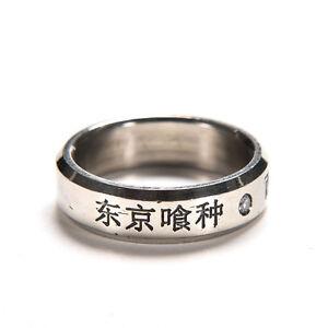 1pc cosplay anime para Tokio Ghoul Kaneki anillos de acero de titanio anillo SPE