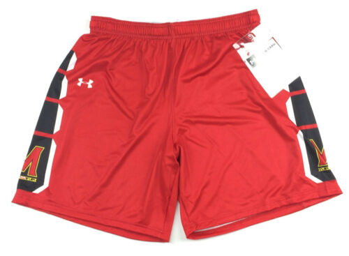 New Under Armour Maryland Terrapins Basketball Short Women/'s Large Red UJKSS1W