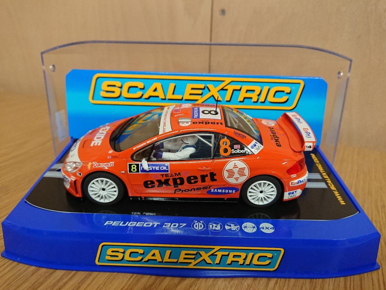 SCALEXTRIC C2885 Peugeot 307 WRC Team Expert H. Solberg