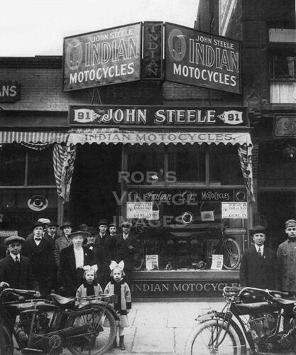 Indian Motorcycle Photo John Steele Dealer   Photo 1910 Sidecars