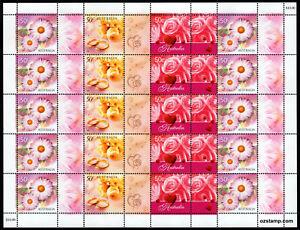 2003-Greetings-Flowers-Wedding-Full-P-Sheet-MUH-SG2254-6-Stamps-Australia