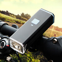 Cree T6 Bike Usb Rechargeable Bicycle Front Lights Cycling Flashlight+mount Clip
