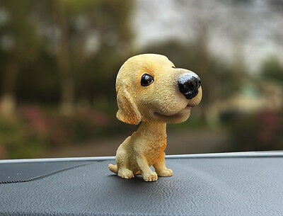 Yorkshire Terrier Dog Figurine Car Bobble Head Doll Home Ornaments Decor Gift