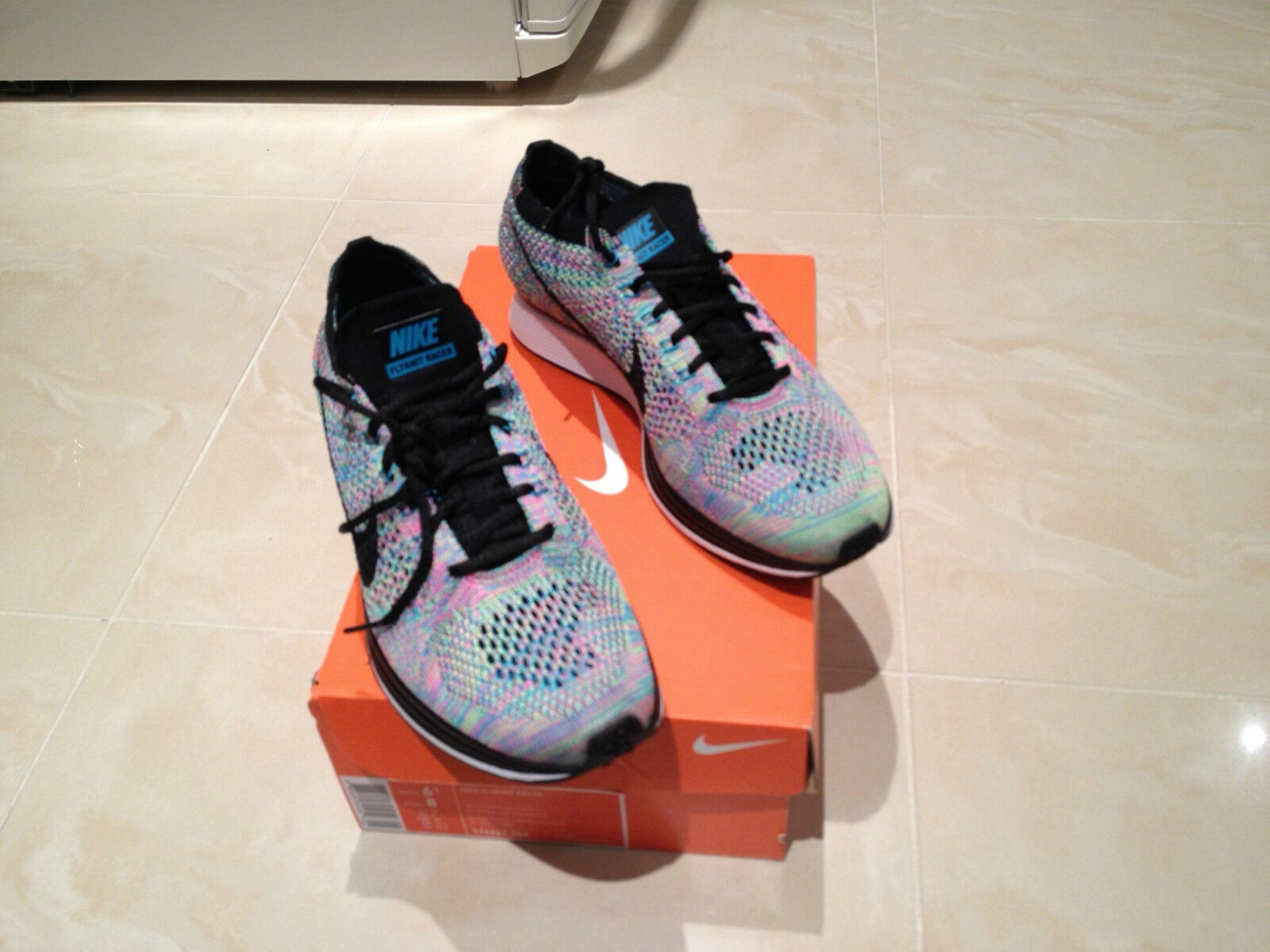 NIKE FLYKNIT RACER RAINBOW MULTICOLOUR 2.0 11 SIZE UK 6 7 11 2.0 12 LIMITED EDITION NEW 19b5db