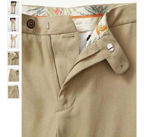 $145 Tommy Bahama T17153 Men/'s New St Thomas Flat Front Silk Pant Sisal 36X30