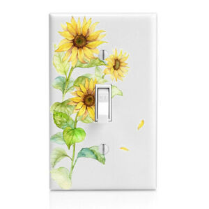 Cabinet knob Elephant Home Decor Night Light Sunflowers Switch Cover