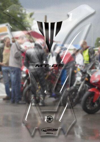 Tankpad Aufkleber Transparent 3D Tank Kompatibel für Yamaha Motorräder MT-09