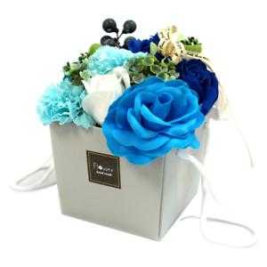 Seife Seifenblumen Bouquet Blau Gastgeschenk Geschenk Hochzeit