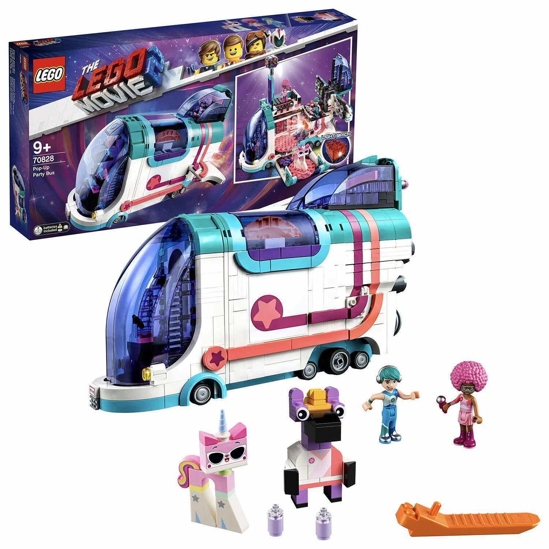 Lego 70828 película 2 Conjunto de Juguete de bus de fiesta Pop Up fiesta en discoteca Kitty y sus amigos con