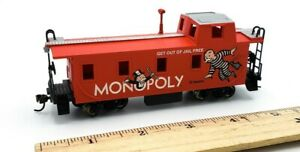 Bachmann-HO-Scale-Train-Monopoly-Red-Caboose-GET-OUT-OF-JAIL-FREE