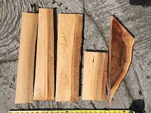 "Red Stemmed Iron Bark Eucalyptus Curly Live Edge Reclaimed Wood 5@10-20x2-5x1-2"""