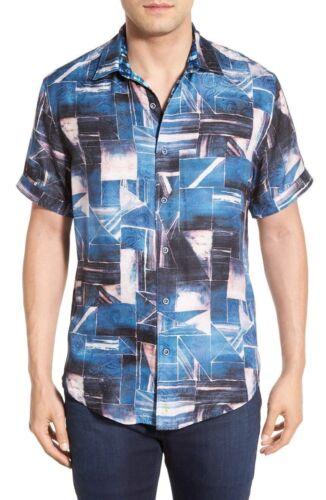 Robert Graham Rocky Island Regular Fit Silk Blend Sport Shirt NWT S L 3XL