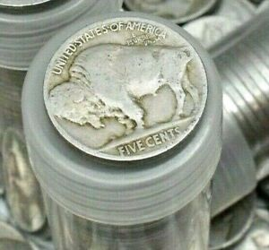 FULL-DATE-INDIAN-HEAD-BUFFALO-NICKELS-RARE-US-COINS-MIXED-DATES-ROLL-OF-40
