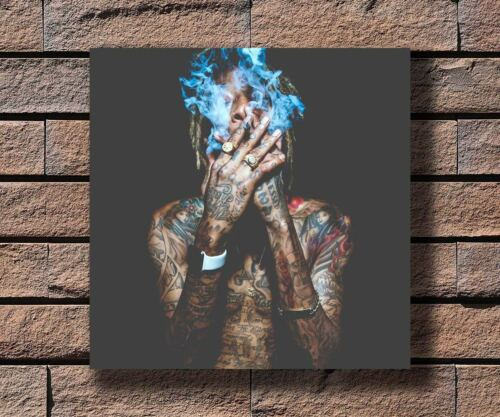 Y818 Wiz Khalifa fucc day Rapper Smoking Music Star Fabric Poster 16x16 24x24