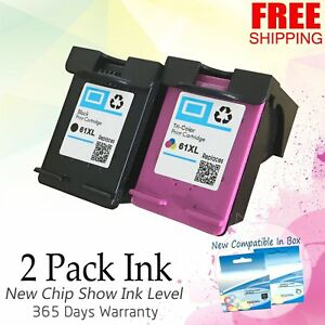 2x-61-XL-Black-Color-Ink-Set-For-HP-Deskjet-3056A-3510-3516-3511-3512-ENVY-4500