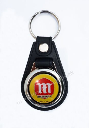 MONTESA MOTORCYCLES FAUX LEATHER KEY RING KEY FOB.SPANISH MOTORCYCLES//TRIALS.