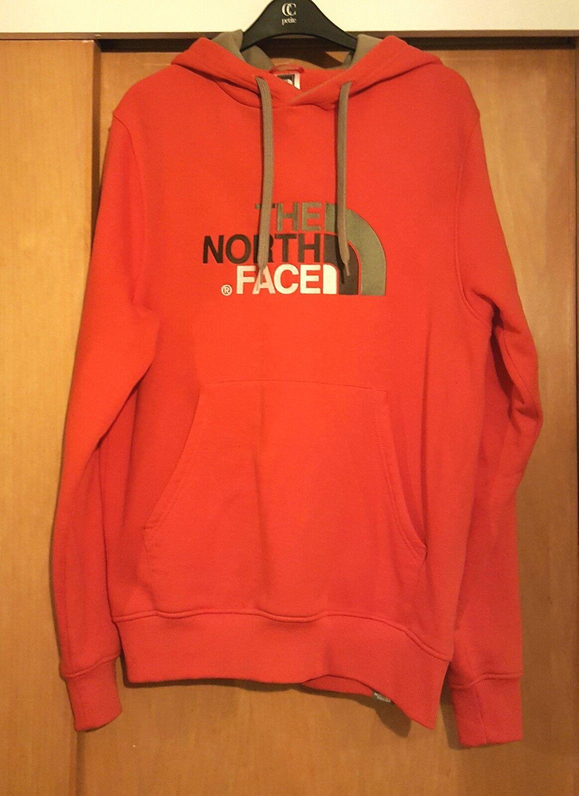 The North Face Hoodie / Sweatshirt - ROT/Khaki -  Herren - Größe Small - NEW