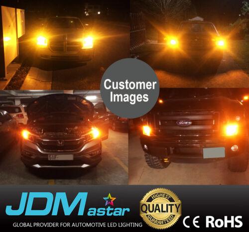 JDM ASTAR 2x 3157 3156 Amber Yellow 5730 SMD LED Turn Signal Lights Bulbs 3057