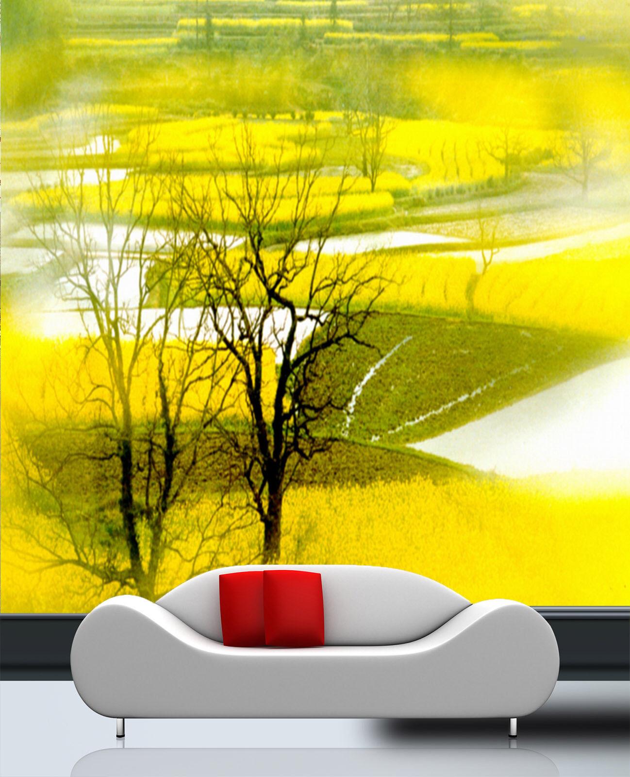 3D Cartoon Tree 607 Wallpaper Murals Wall Print Wallpaper Mural AJ WALL UK Lemon
