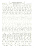 Woodland Scenics [woo] Dry Transfer Extended Roman Letters White Mg716 Woomg716