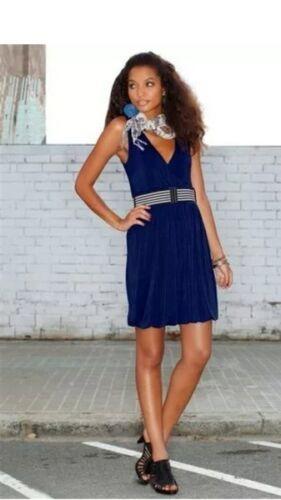 top trendy BUFFALO Kleid mit Gürtel  NEU marine blau