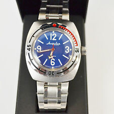 New VOSTOK Russian Amphibian 200m Diver Automatic Mens Watch #090914- US SELLER