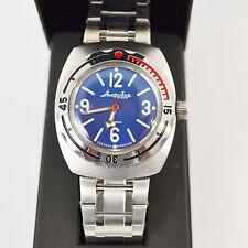 New VOSTOK Russian Amphibian 200m Diver Automatic Mens Watch #090914- US SELLER