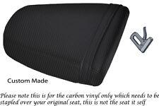 CARBON FIBRE VINYL CUSTOM FITS TRIUMPH SPEED TRIPLE 955 i 01-05 REAR SEAT COVER
