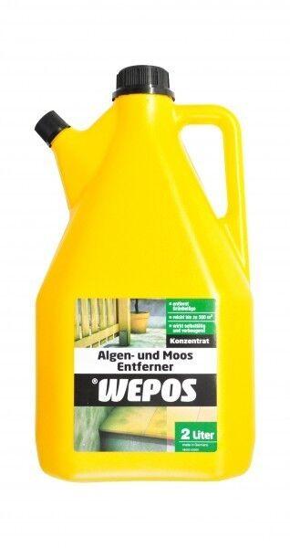 Wepos Algen Moos Entferner 2x2Liter Konzentrat Moosentferner Algenex