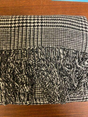 NEW J.CREW Womens Versatile Poncho Cape Scarf Shawl Wrap Glen Plaid Wool Bld NWT