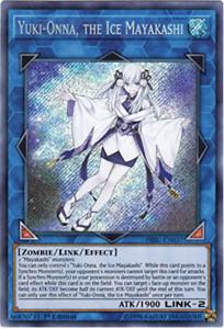 Yuki-Onna,The Ice Mayakashi HISU-EN037 1st Edition Secret Rare Yu-Gi-Oh!