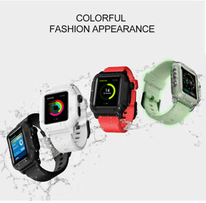 various colors 7ceae 4f695 Details about Waterproof Silicone Sport Band & Armor Case For Apple Watch  iWatch 2/3 42mm 38mm