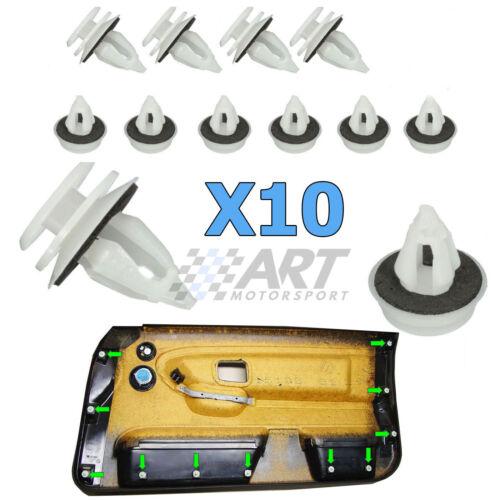 10 X Clips pour Garniture Panneau de Porte Compatible avec BMW E36 Serie 3