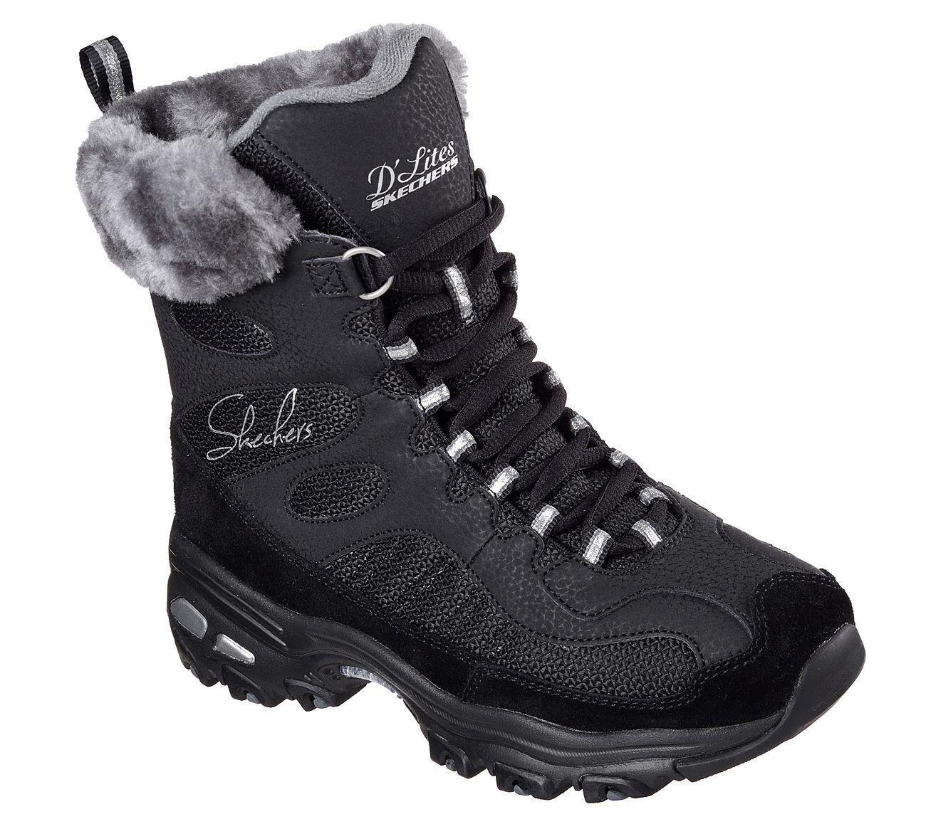 Skechers Winter D'Lites - Chalet Stiefel Damenschuhe Waterproof Winter Skechers Fur Lined Sneaker 48816 53dd44