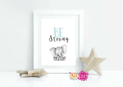 Nursery Wall Art A4 illustrated Prints New baby Gift Jungle Animals 4 designs