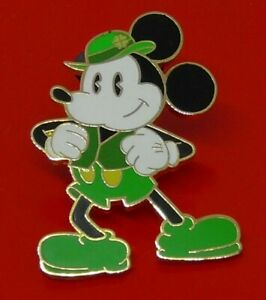 Used-Disney-Enamel-Pin-Badge-Mickey-Mouse-Green-Costume-Some-Wear