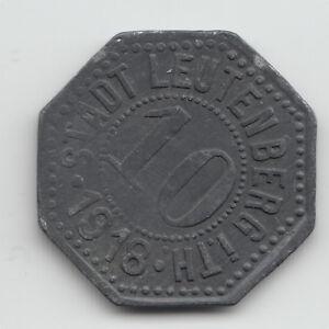 WWI-Notgeld-coin-token-Germany-Leutenberg-zinc-10-Pfennig-dated-1918-L282-2