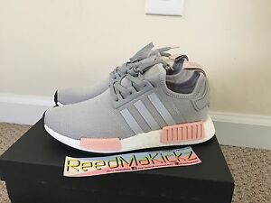 af6a59a1f Adidas NMD R1 Grey Gray Light Onix Vapour Pink Offspring Womens ...