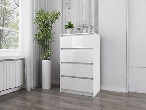 Hochglanz Kommode Sideboard Anrichte Schrank 4 Schubladen 70 Cm